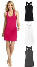 Cute Summer Racerback Dress Beach Sun Water Short Swim Suit Cover Up Hot Pink