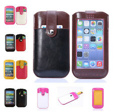 Universal Leather Smart full View Window Wallet Bag Cover Case Pouch for Samsung