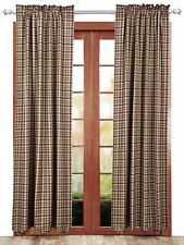 Jackson Country Plaid Curtain Set Lined Green Red & Tan 100% Cotton