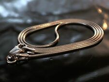 """925 Solid Sterling Silver Round Snake Chain - Rhodium Finish Sizes: 16"""" 18"""" 20"""""""