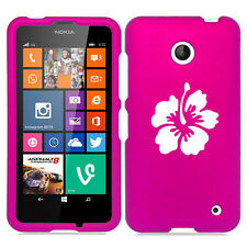 For Nokia Lumia 630 635 Rubber Hard Case Cover Hibiscus Flower