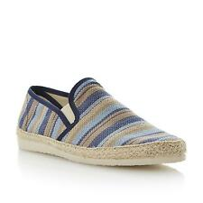 Dune Mens FLOUNDER Woven Canvas Espadrille in Blue