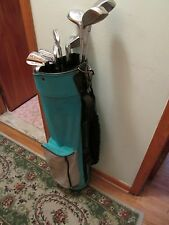 Ladie's comp set right hand 8 wilson irons 3 woods putter bag $70.00 free ship