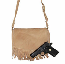 Leather Crossbody Concealed Carry Small Purse by South Bay Gun Concealment CCW