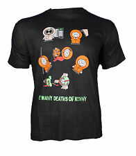 MAGLIETTA T SHIRT STAMPATA SOUTH PARK KENNY LE MORTI MANY DEATHS OF KENNY