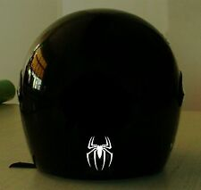SPIDER  REFLECTIVE MOTORCYCLE HELMET DECAL..2 FOR 1 PRICE