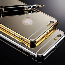 Luxury Slim Rubber Ultra-thin Mirror Metal Case Cover For iPhone 6 4.7 Plus 5.5