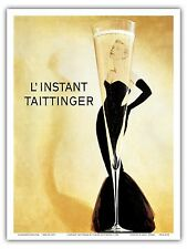 Taittinger Moment Champagne Vintage Advertising Art Poster PrintPrint