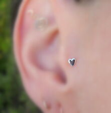 Nose Ring Piercing Tragus Cartilage Earring Sterling Silver Heart Nose Stud