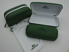 Lacoste Eyeglass & Sunglass Cases New! Your Choice!  Green