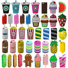 Chocolate Coffee Ice Cream Silicone Rubber New 3D Case Cover For iPhone 5 6 SE 7