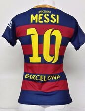 New!!! FC Barcelona Women Messi # 10 Home Jersey Unbranded NWOT Stitched Patch