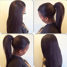 Queen Italia Yaki 100% Brazilian Human Remy Hair Full /Front Lace WIGS BABY HAIR