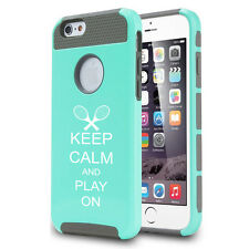 For iPhone SE 5s 5c 6 6s Plus Shockproof Impact Hard Case Keep Calm Play Tennis