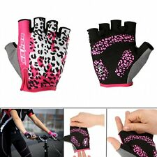 Sport Half Finger Fingerless Gel Bike Bicycle Cycling Gloves Short Gloves Black