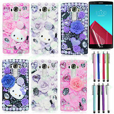 For LG G4 New Luxury 3D Handmade Fairy Tale Bling Crystal Colorful Case Cover