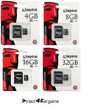 KINGSTON 4GB 8GB 16GB 32GB MICRO SD CARD + SD ADAPTER FOR PHONE TABLET CAMERA