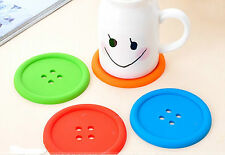 buttons coster Silicone gel heat insulation cups drinks mats holder Placemat A