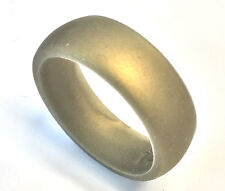 8MM Gold Men FLEXIBLE Hypoallergenic Rubber Silicone Wedding Band Ring