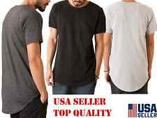 MENS LONG T-SHIRT WITH SIDE ZIPPER HIP HOP STYLE
