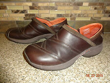 Womens Sz 9/40 Merrell Primo Patch Brown Leather Slip-On Shoes