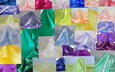 """SATIN FABRIC 45"""" MADE IN THE USA BY PAGO FABRICS - 21 COLORS"""