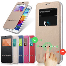 Smart Case Ultra Thin Flip Leather Window View Cover For Samsung Galaxy S5 I9600