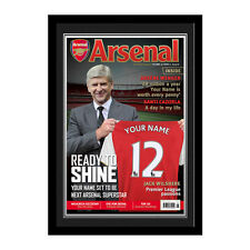 Personalised Arsenal FC Football Club Manager with Shirt Magazine Cover Photo