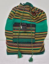 """Brand New Craft Peruvian Saddle Backpack Hippie Style Traditional Sack """"Morral"""""""