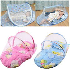 Baby On the Go Travel Padded Mattress Cot Bed Mosquito Net Safety Net Foldable
