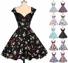 2015 Robe Pin Up Retro Vintage style Rockabilly années 50s 60s Swing Floral Robe