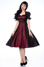 Sexy Rockabilly Costume Dress 60s Rock n Roll Petticoat Retro Vintage 1960s Hip