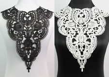 Fabric Venice Collar Lace Charming Flowers Polyester Sewing Trim Applique Craft