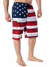 USA American Flag Old Glory Mens Board Shorts Swim Trunks Patriotic S-XXL