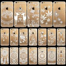 ULTRA THIN Henna Tribal Flower Paisley Rubber Case for iPhone 5S 6 6 Plus 4s 5c