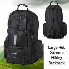 Large Hiking Camping Travel Rucksack Backpack Walking Festival Big Bag Treck 46L