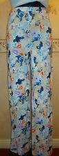 LADIES FLORAL PRINT WIDE LEG TROUSERS, ELASTICATED WAIST, SIZES 8-16 *REDUCED*