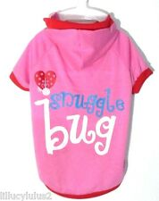 New listing Free Gift New M L Pink Snuggle Bug Dog Shirt Pet Clothes Dog Dress Puppy Apparel