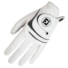 FOOTJOY MENS WEATHERSOF GOLF GLOVE LEFT HAND NEW WHITE ALL WEATHER LEATHER 2016