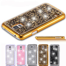 For Samsung Galaxy S5/S5 Neo Bling Glitter Crystal Diamond Back Case Cover Skin