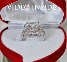 Fine 4.08CT Princess Cut Engagement Ring Wedding Diamond Ring 22KT Made in Italy
