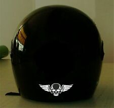 SKULL WITH WINGS REFLECTIVE VINYL HELMET DECAL...2 FOR 1 PRICE