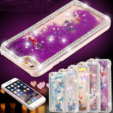 Butterfly Bling Diamond Liquid Quicksand Clear Back Case Cover For iPhone 6 4.7""