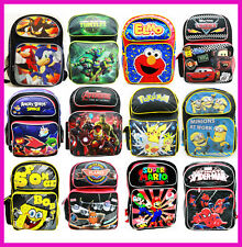 "School Backpack 16"" Large Bag sonic, ninja, elmo, cars,angry birds, avengers"