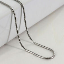 "The Latest  925 Silver Plated Lovely Snake Chain Necklace 2MM 16""-24"" Jewellery"