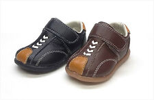 New Genuine Leather Infant/Toddler Boy Shoes Size 2 - 7 Black & Brown