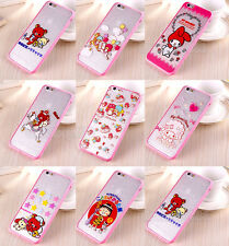 Cartoon Lovely Rabbit Bear Soft TPU Hard PC Case Cover for Apple iPhone 6/6 Plus