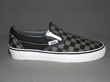 VANS CLASSIC SLIP-ON BLACK/PEWTER CHECKERBOARD Kids Sizes