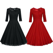 NEW Retro 1950s 1960s Rose Pinup Rockabilly Evening Party Prom Dance Swing Dress