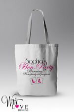 PERSONALISED HEN PARTY TOTE SHOPPER SHOPPING BAG WEDDING GIFT